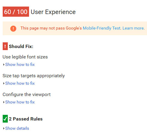 Google's mobile-friendliness testing tool allows you to see how your website can be improved for mobile visitors.
